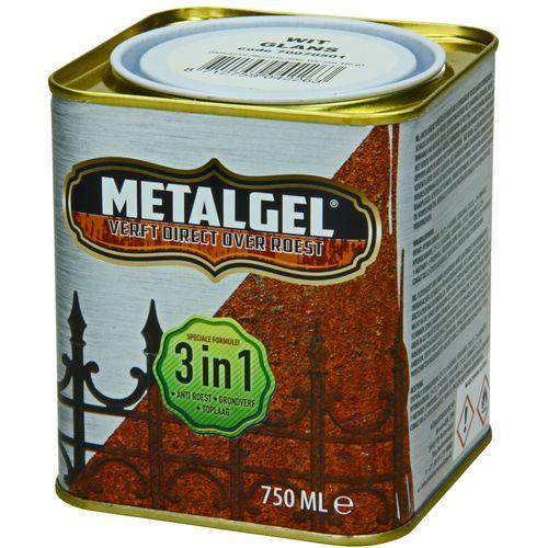 Metalgel metaallak wit zijdeglans 750ml