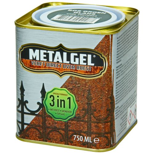 Metalgel metaallak bosgroen glans zijdeglans 750ml