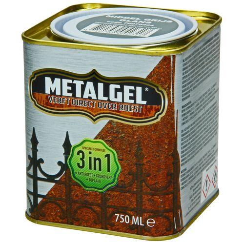 Metalgel metaallak grijs glans zijdeglans 750ml