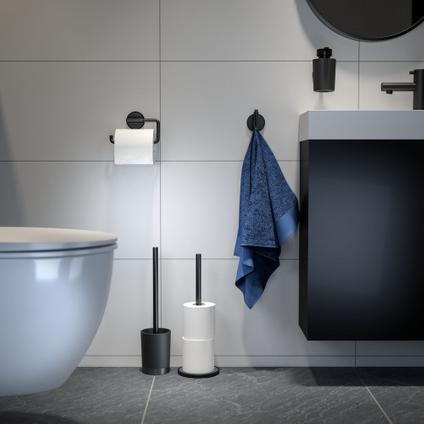 Porte-papier de toilette Tiger Tune métal brossé noir à suspendre