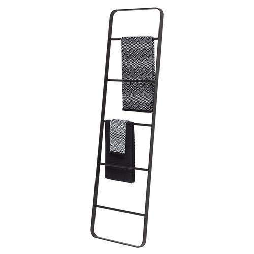 Sealskin ladder Brix metaal gepoederd zwart staand