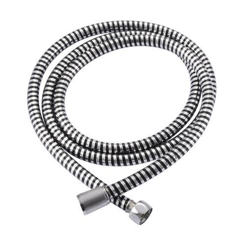 Flexible de douche AquaVive PVC chrome noir 175cm
