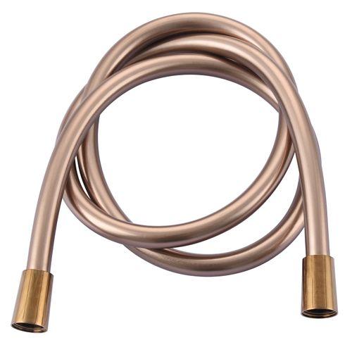 Flexible de douche AquaVive PVC or rose 150cm