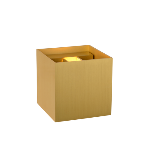 Lucide wandlamp LED Xio vierkant goud 3,5W
