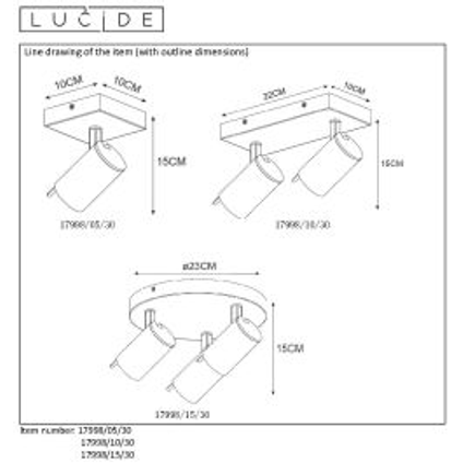 Lucide spot LED Grony 5W