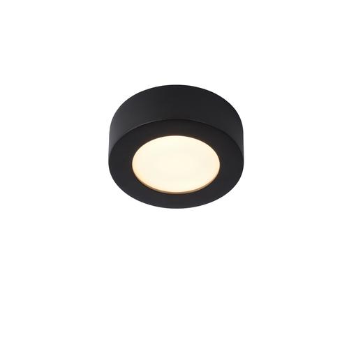 Lucide plafondlamp Brice-LED zwart Ø11,7cm 8W