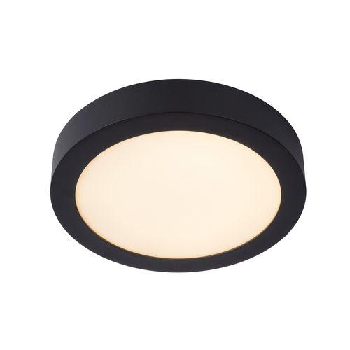 Lucide plafonnier Brice-LED noir Ø24cm 15W