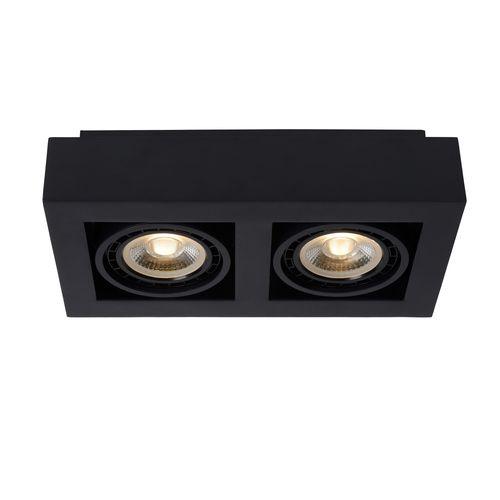 Lucide spot LED Zefix noire 2x12W