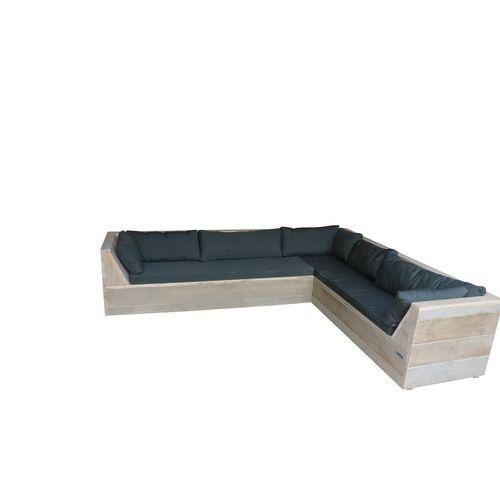 Wood4you Loungeset Six bois de construction 250Lx200Dx70H cm  (Gespiegelde L)