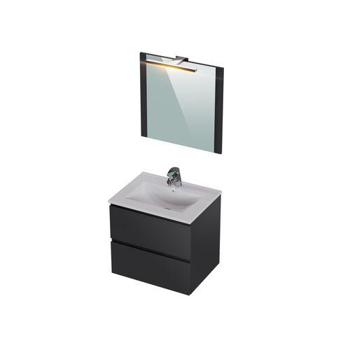 Meuble de salle de bains T-Bath Milenio gris brillant 60cm