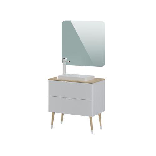 Meuble de salle de bains T-Bath Helsinki laqué blanc mat 80cm