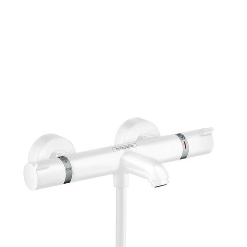 Mitigeur thermostatique bain et douche Hansgrohe Ecostat Comfort mat blanc