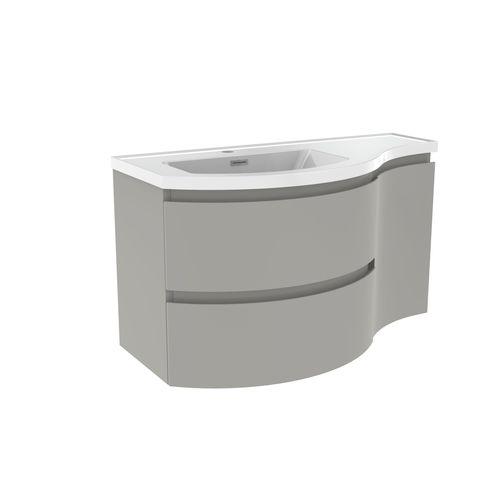 Meuble sous-lavabo + lavabo Allibert Verso mat gris 90cm