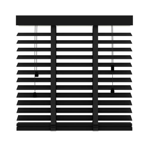 Decosol 947 horizontale jaloezie hout zwart mat 80x180cm
