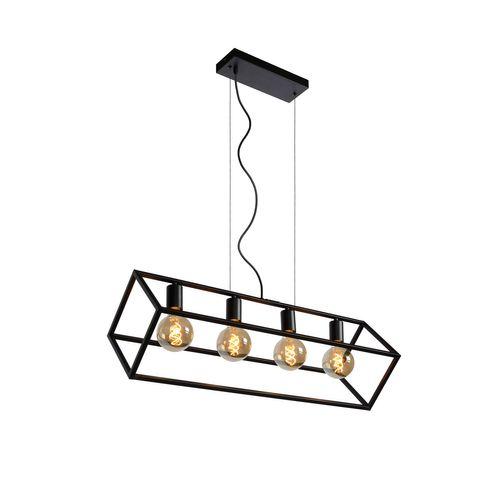 Lucide hanglamp Fabian zwart 4xE27
