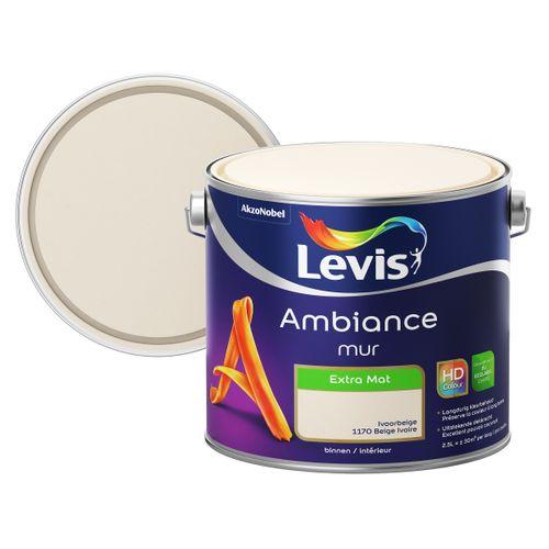 Levis muurverf Ambiance Muur ivoor beige extra mat 2,5L