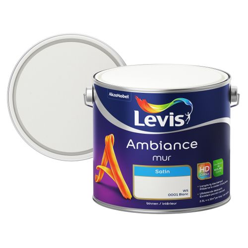 Levis muurverf Ambiance Mur wit zijdeglans 2,5L