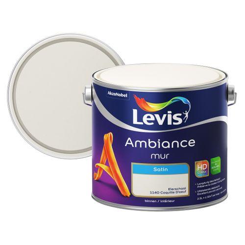 Levis muurverf Ambiance Mur eierschaal zijdeglans 2,5L