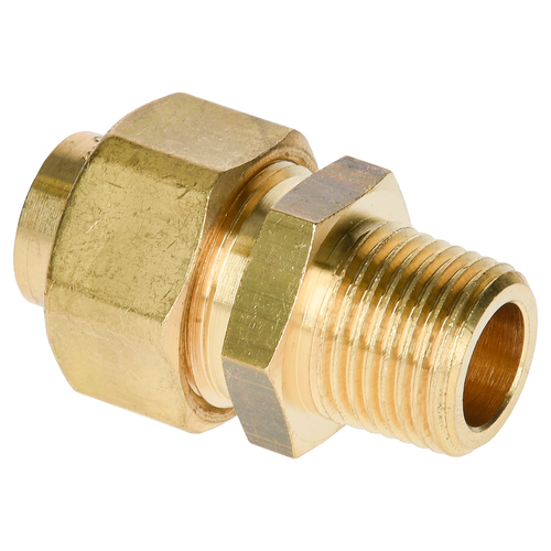 Sanivesk 3-delige koppeling messing 1/2 x 15 mm