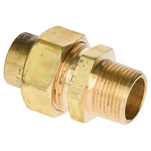 Sanivesk 3-delige koppeling messing 3/4 x 22 mm