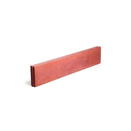 Bordure droite Coeck béton rouge 100 x 20 x 6 cm
