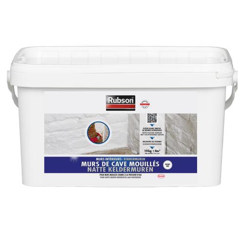 Produit de protection Rubson Murs de Caves Mouillés blanc 10kg
