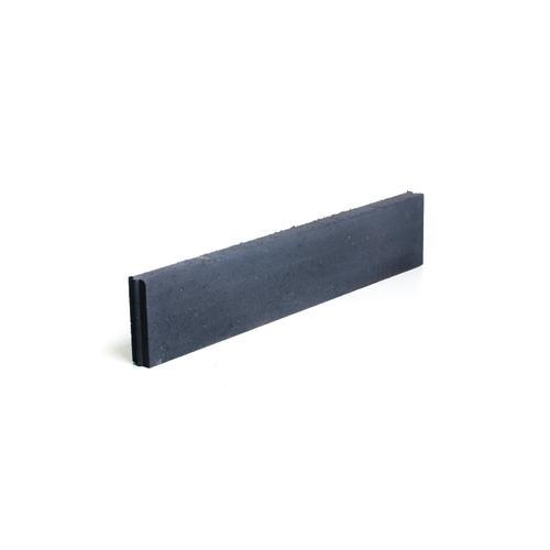 Bordure droite Coeck béton noir 100 x 20 x 6 cm