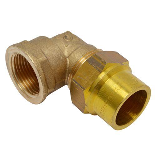 Coude gaz naturelle à raccord compression Sanivesk laiton 1/2 F x 12 mm