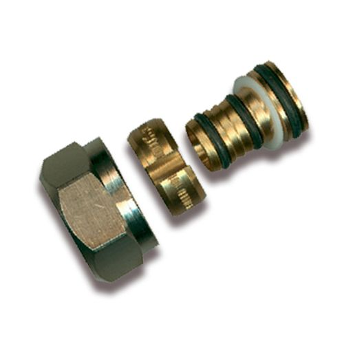 Sanistal aansluitkoppeling voor aluminium buis Ø16x2mm messing