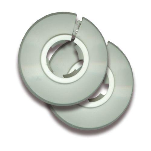 Rosaces pour tuyau Saninstal 2 pièces Ø15mm plastique blanc