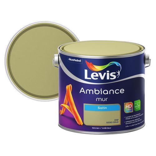 Levis muurverf Ambiance Mur olijf zijdeglans 2,5L