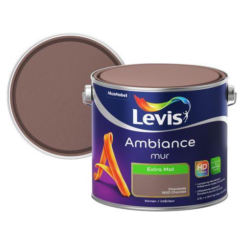 Peinture murale Levis Ambiance Mur chocolat extra mat 2,5L