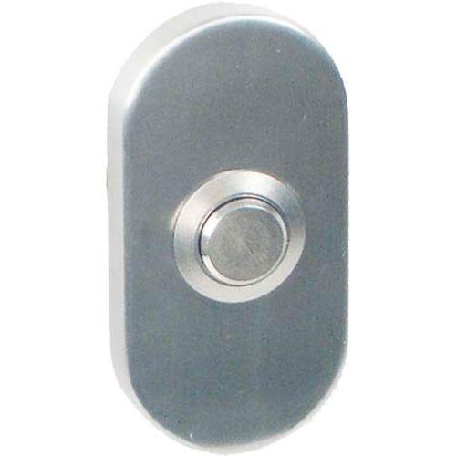 Bertomani 8304 deurbel ovaal RVS