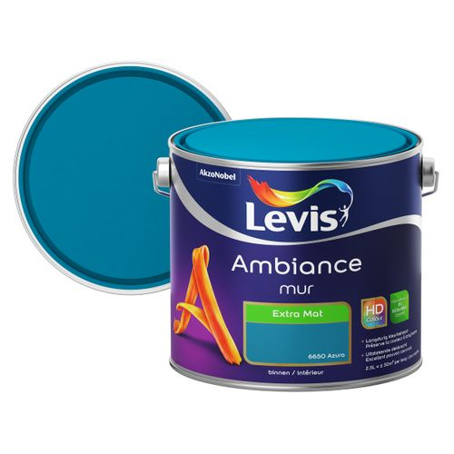 Levis muurverf Ambiance Muur azura extra mat 2,5L