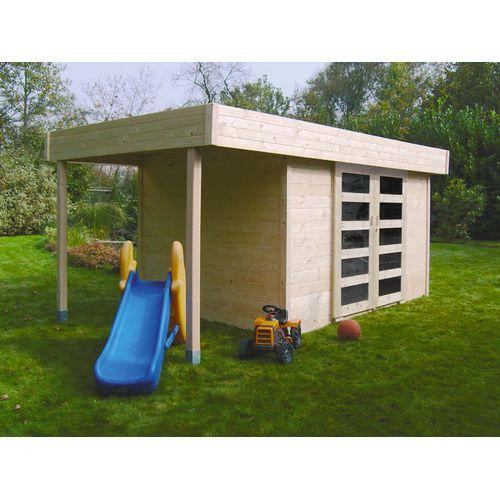 Solid  abri de jardin Larvik bois 8,13 m² 332+124x245cm