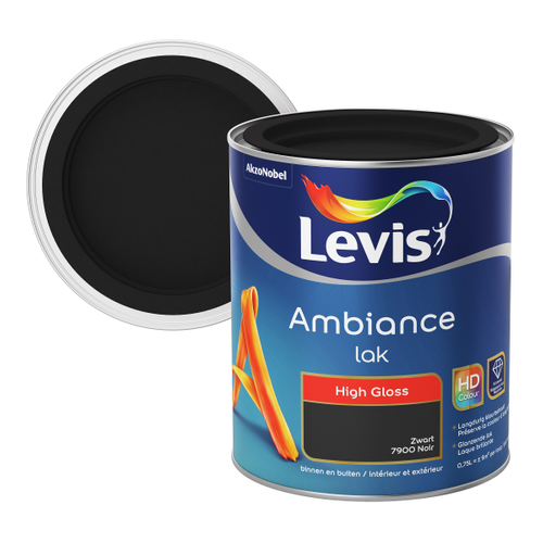 Levis lak 'Ambiance' stiletto black hoogglans 750ml