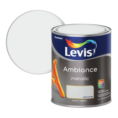 Peinture murale Levis Ambiance metallic silver 1L