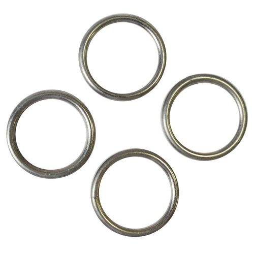 Sencys gesloten ring staal Ø 5 x 48 mm - 6 stuks