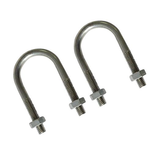 Sencys U-bout 'M8' staal grijs 77 mm - 2 stuks