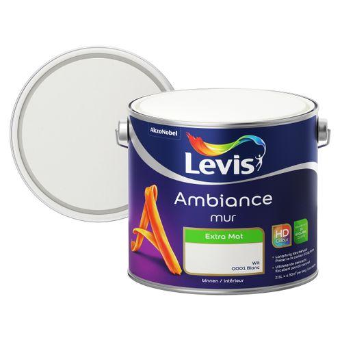 Levis muurverf Ambiance Mur wit extra mat 2,5L