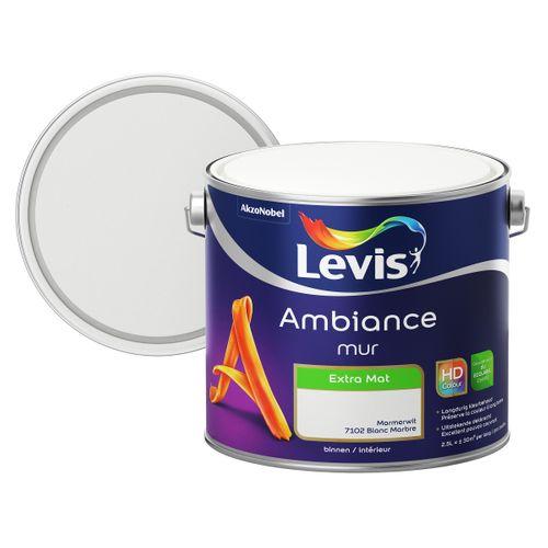 Levis muurverf Ambiance Mur marmerwit extra mat 2,5L