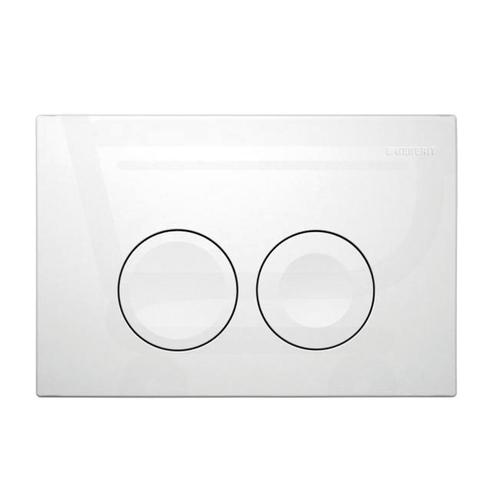 Plaque de commande Geberit Delta21 2 touches blanc mat 16,4x24,6cm