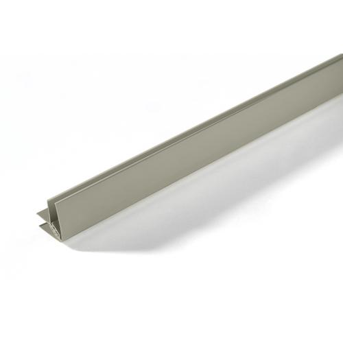 Grosfillex binnen- en buitenhoekprofiel PVC taupe 260cm