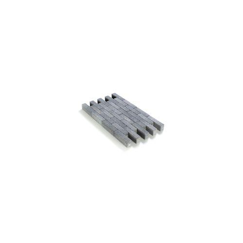 Coeck klinker waal grijs-zwart in-line getrommeld 20x5x6cm