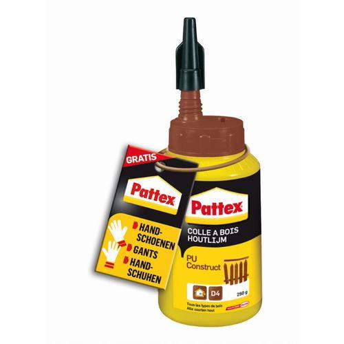 Colle à bois Pattex PU-Construct 250gr