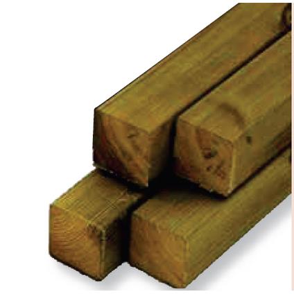 Poteau de jardin bois 240 x 12 x 12 cm