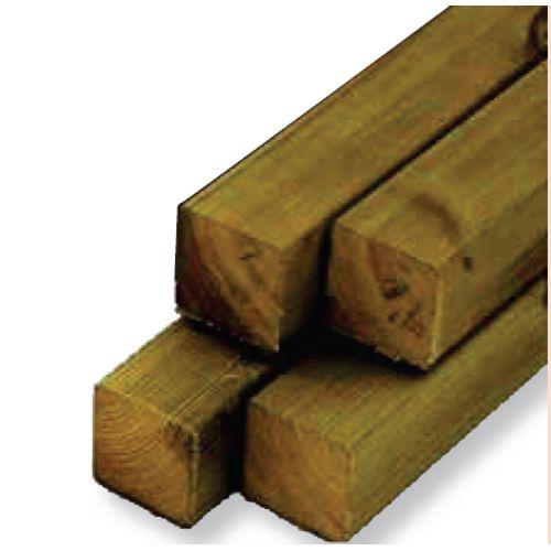 Vierkante paal hout 12x12x240cm