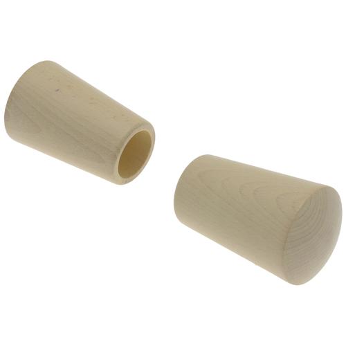 Decomode eindknop 'Saxo' beuk 28 mm - 2 stuks