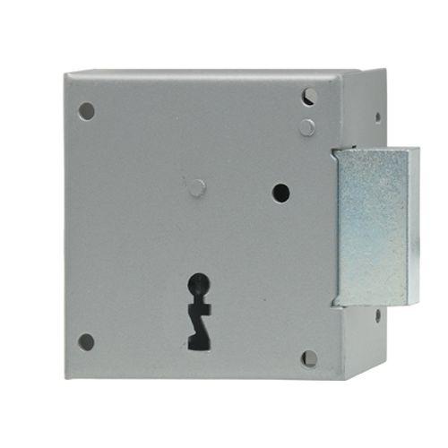 Serrure à appliquer horizontale main droite Sencys 'M971' acier gris 40 mm