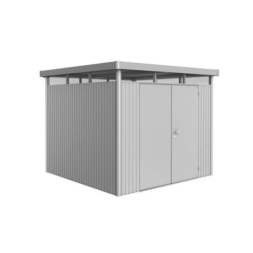 Biohort tuinhuis 'HighLine H4 dubbele deur' staal zilver metallic 6,35 m²